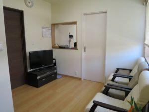 堀田治療院の待合室