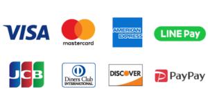 取扱い可能なクレジットカード・QRコード払い一覧の画像